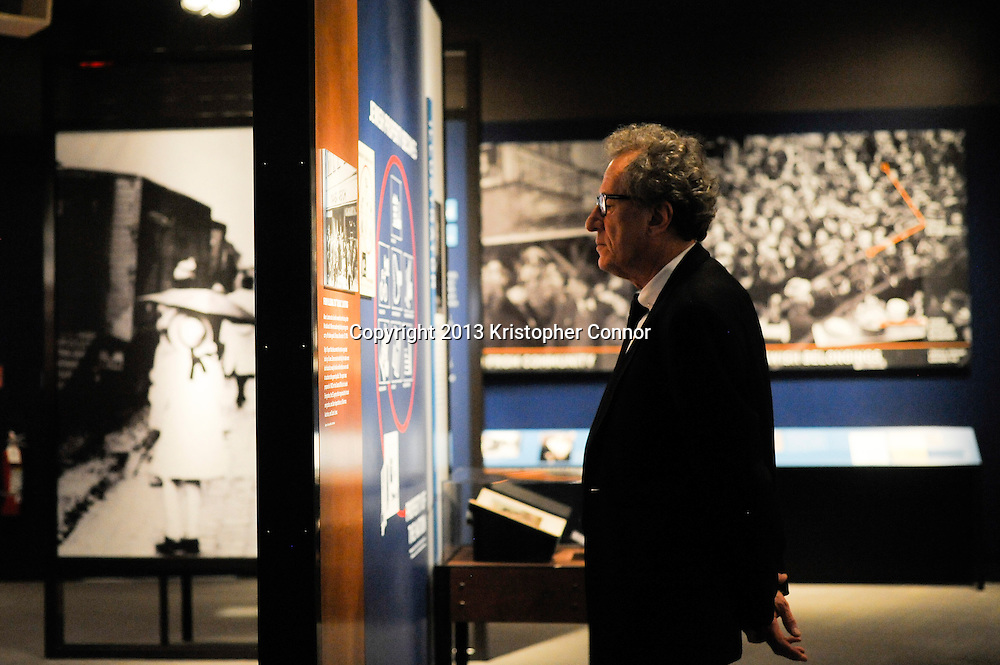 """WASHINGTON, DC - NOVEMBER 7: Actor Geoffrey Rush attends  the premiere of """"The Book Thief,"""" sponsored by the US Holocaust Museum at the United States Holocaust Memorial Museum on November 7, 2013 in Washington, DC. (Photo by Kris Connor/20th Century Fox)"""