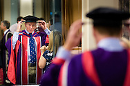 British Astronaut Tim Peake prepares to receive an Honorary Doctorate of Science Degree from the University of Portsmouth at the Guildhall in the city.<br /> Earlier, Tim spent the day at the UK Space Agency Schools Conference hosted by the University.<br /> The conference celebrated the work of over a million UK school students inspired by Peake's Principia mission, which saw the flight dynamics and evaluation graduate spend more than six months on board the International Space Station.<br /> Youngsters had the chance to present their work through talks and exhibitions to experts from the UK Space Agency, European Space Agency (ESA), partner organisations and the space sector. Most also had the chance to meet Tim.<br /> Picture date Wednesday 2nd November, 2016.<br /> Picture by Christopher Ison for the University of Portsmouth.<br /> Contact +447544 044177 chris@christopherison.com