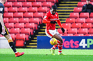 Mamadou Thiam of Barnsley (26) controls the ball during the EFL Sky Bet League 1 match between Barnsley and Bradford City at Oakwell, Barnsley, England on 12 January 2019.