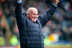 Falkirk's manager Peter Houston after Myles Hippolyte scored their second goal. Falkirk 2 v 1 Dunfermline, Scottish Championship game played 15/10/2016, at The Falkirk Stadium.
