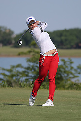 May 6, 2018 - The Colony, TX, U.S. - THE COLONY, TX - MAY 06: Jin Young Ko (KOR) hits from the 6th tee during the Volunteers of America LPGA Texas Classic on May 6, 2018 at the Old American Golf Club in The Colony, TX. (Photo by George Walker/Icon Sportswire) (Credit Image: © George Walker/Icon SMI via ZUMA Press)