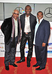 "(L-R) Robert ""Kool"" Bell, George Brown and Ronald Bell (Kool & The Gang) attend the Goldene Kamera 2014 at Tempelhof Airport Hangar 7, Berlin, Germany, Saturday, 1st February 2014. Picture by  Schneider-Press / i-Images<br /> UK & USA ONLY"