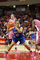 10 February 2013:  Alexis Akin-Otiko during an NCAA women's basketball game where the Creighton Bluejays lost to the Illinois Sate Redbirds 66-60 at Redbird Arena in Normal IL