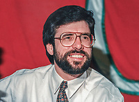 Gerry Adams, president, Sinn Fein, at Ard Fheis, 19900101/GA/B.<br />
