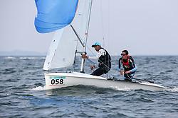 , Travemünde - 420er WM 25.07. - 03.08.2014, 420er, FRA 54286, Maxime PEDRON, Eliott MICHAL, SR Antibes