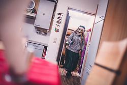 THEMENBILD - die Litterin, während eines traditionellen Hausbesuchs der Nikoaus und Krampusgruppe Frieden, aufgenommen am 04. Dezember 2018 in Lienz, Österreich // Home visit from Krampus and Saint Nicholas. Krampus a mythical creature that, according to legend, accompanies Saint Nicholas during the festive season. Instead of giving gifts to good children, he punishes the bad ones, Lienz, Austria on 2018/12/04. EXPA Pictures © 2018, PhotoCredit: EXPA/ JFK