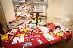 The Princess Alexandra Hospital, Harlow, Nursing & Midwifery Celebration Day - training and information, UK. Royal College of Nursing stand