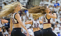 Members of the Texas A&M Aggie Dance Team perform during a time out of an NCAA college basketball game between Kentucky and Texas A&M, Saturday, March 4, 2017, in College Station, Texas.  (AP Photo/Sam Craft)