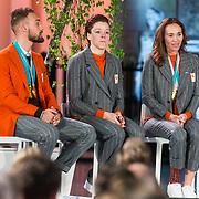 NLD/Den Haag/20180323 - Huldiging Olympische en Paralympische medaillewinnaars, Kjeld Nuis, Jorien ter Mors, Bibian Mentel