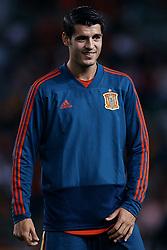September 11, 2018 - Elche, Alicante, Spain - Alvaro Morata of Spain smiles prior to the UEFA Nations League A group four match between Spain and Croatia at Manuel Martinez Valero on September 11, 2018 in Elche, Spain  (Credit Image: © David Aliaga/NurPhoto/ZUMA Press)