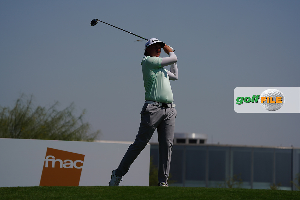 Sami Valimaki (FIN) on the 3rd during Round 2 of the Commercial Bank Qatar Masters 2020 at the Education City Golf Club, Doha, Qatar . 06/03/2020<br /> Picture: Golffile   Thos Caffrey<br /> <br /> <br /> All photo usage must carry mandatory copyright credit (© Golffile   Thos Caffrey)