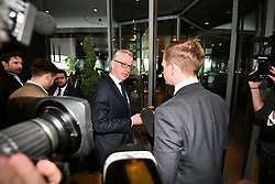 © Licensed to London News Pictures. 15/06/2019. London, UK. MICHAEL GOVE is seen arriving at a leadership hustings in Westminster. Boris Johnson has cemented his position as favourite to become the next Prime Minster after winning a landslide in the first round of the conservative party's leadership race. Photo credit: Ben Cawthra/LNP
