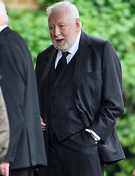 © London News Pictures. 11/05/2016. London, UK. LORD ROY HATTERSLEY attends the funeral of Maurice Peston, Baron Peston at Golders Green in north London. Baron Peston, who died  in April aged 85,  was the father of journalist and ITV News Political Editor, Robert Peston. Photo credit: Ben Cawthra/LNP