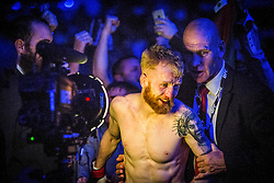 Paddy Holohan of Ireland after beating Vaughan Lee of England in their flyweight fight during the UFC Fight Night at Glasgow on Saturday, July 18 at The SSE Hydro, Glasgow. The UFC Fight Night 72 event was the first the promotion had been hosted in Scotland.