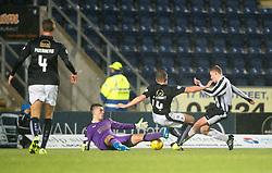 Fraserburgh's Marc Lawrence scoring their goal. <br /> Falkirk 4 v 1 Fraserburgh, Scottish Cup third round, played 28/11/2015 at The Falkirk Stadium.