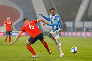 Huddersfield Town AFC Forward Josh Koroma (19) with a through ball during the EFL Sky Bet Championship match between Huddersfield Town and Luton Town at the John Smiths Stadium, Huddersfield, England on 7 November 2020.