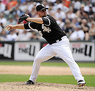 CHICAGO - JULY 10:  Jesse Crain #26 of the Chicago White Sox pitches against the Minnesota Twins on July 10, 2011 at U.S. Cellular Field in Chicago, Illinois.  The Twins defeated the White Sox 6-3.  (Photo by Ron Vesely)  Subject: Jesse Crain