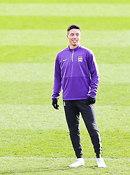 Samir Nasri of Manchester City during the training session at The Etihad Campus ahead of the UEFA Champions League clash with FC Barcelona - Photo mandatory by-line: Matt McNulty/JMP - Mobile: 07966 386802 - 23/02/2015 - SPORT - Football - Manchester - Etihad Stadium