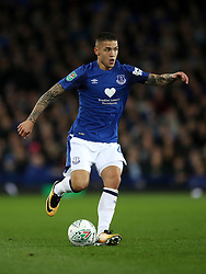 """Everton's Muhamed Besic during the Carabao Cup, Third Round match at Goodison Park, Liverpool. PRESS ASSOCIATION Photo. Picture date: Wednesday September 20, 2017. See PA story SOCCER Everton. Photo credit should read: Nick Potts/PA Wire. RESTRICTIONS: EDITORIAL USE ONLY No use with unauthorised audio, video, data, fixture lists, club/league logos or """"live"""" services. Online in-match use limited to 75 images, no video emulation. No use in betting, games or single club/league/player publications"""