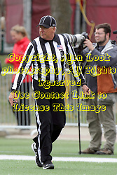 03 October 2015:  Line Judge Patrick Brown. NCAA FCS Football between Northern Iowa Panthers and Illinois State Redbirds at Hancock Stadium in Normal IL (Photo by Alan Look)