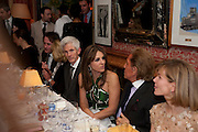 RICHARD BUCKLEY; ELIZABETH HURLEY, Graydon Carter hosts a diner for Tom Ford to celebrate the London premiere of ' A Single Man' Harry's Bar. South Audley St. London. 1 February 2010
