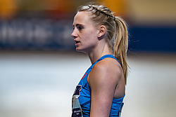 Anouk Vetter in action on the 60 meters during limit matches to be held simultaneously with the Dutch Athletics Championships on 13 February 2021 in Apeldoorn