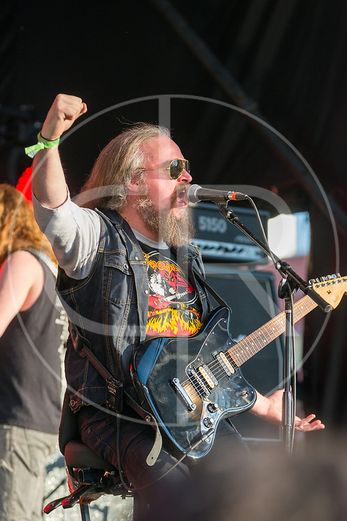 BALTIMORE United States - May 22, 2015: Carl-Michael Eide of Aura Noir performs at Maryland Deathfest