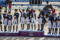 Team Germany, Werth Isabell, Rothenberger Sonke, Schneider Dorothee, Von Bredow-Werndl Jessica<br /> European Championship Dressage<br /> Rotterdam 2019<br /> © Hippo Foto - Dirk Caremans