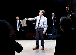 Future Conditional <br /> by Tamsin Oglesby<br /> directed by Matthew Warchus<br /> at The Old Vic Theatre, London, Great Britain, London, Great Britain<br /> 4th September 2015 <br /> <br /> <br /> Rob Brydon as Crane<br /> <br /> <br /> <br /> <br /> Photograph by Elliott Franks <br /> Image licensed to Elliott Franks Photography Services