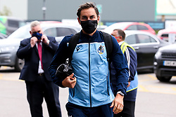 Edward Upson of Bristol Rovers arrives at Doncaster Rovers - Mandatory by-line: Robbie Stephenson/JMP - 26/09/2020 - FOOTBALL - The Keepmoat Stadium - Doncaster, England - Doncaster Rovers v Bristol Rovers - Sky Bet League One