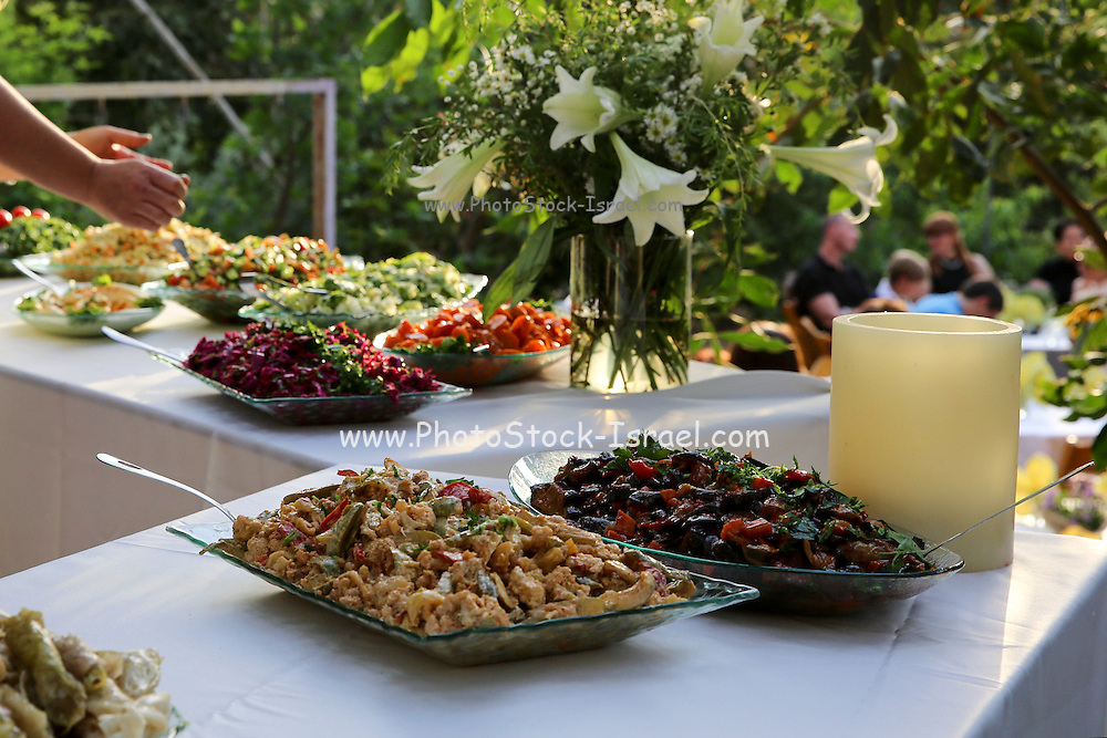 Outdoor Salad Bar on a buffet table