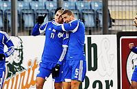 Fotball , 15. oktober 2013 , U21 ,  Norge - Israel<br /> Norway - Israel<br /> Gil Jamil Yizhaq (11) og Ben Vahaba , Israel