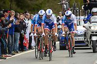 Team Fdj - 28.04.2015 - Tour de Romandie - Etape 01 : Vallee de Joux / Juraparc - CLM Par Equipes<br />Photo : Sirotti / Icon Sport *** Local Caption ***
