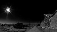 Old Buildings in Bodie Ghost Town. Image taken with a Nikon D700 camera and 16 mm f/2.8 fisheye lens.