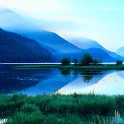Lake Chelan in the Cascade Range in North Cascades National Park, WA.