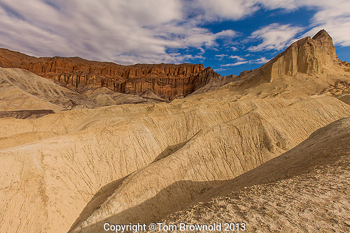 Manly Beacon from Gold Canyon is composed of sediments from Furnace Creek Lake, which dried up 5 million years ago.