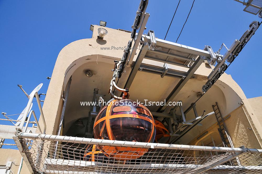 Israel, Haifa, the Stella Maris cable car lower station