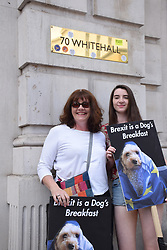 Anti Brexit demo, London 23 June 2018 UK. Campaign for a People's Vote on the final Brexit deal. Protest at the Cabinet Office at 70 Whitehall