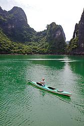 Kayaker On Halong Bay