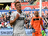 Football - 2018 / 2019 Sky Bet EFL Championship - Swansea City vs. Bristol City<br /> <br /> Jay Fulton of Swansea City looks annoyed after he heads at goal , at Liberty Stadium.<br /> <br /> COLORSPORT/WINSTON BYNORTH