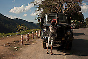 A military truck between Hsipaw and Mandalay, Myanmar.<br />