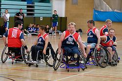 Wheelchair users playing basketball UK