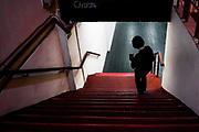 20181101/ Javier Calvelo - adhocFOTOS/ URUGUAY/ MONTEVIDEO/ Centro de Documentación Cinematográfica, Sala Cinemateca y Sala 2 en Lorenzo Carnelli 1311/ Proyecto documental sobre el ultimo mes de funciones en la vieja y tradicional infraestructura de salas de la Cinemateca Uruguaya. Cinemateca Uruguaya es una filmoteca uruguaya con sede en Montevideo, Uruguay, fundada el 21 de abril de 1952. Es una asociación civil sin fines de lucro cuyo objetivo es contribuir al desarrollo de la cultura cinematográfica y artística en general.<br /> Trabajadores: Guillermina Martín Bibliotecologa , Susana Roura y Lucero Trelles en Boleteria, Martin Ramirez proyeccionesta sala 2, Jorge Barboza Sala Cinemateca, <br /> Alejandra Frechero coordinacion , Silvana Silveira encargada depto comercial  , Magela Richero administracion <br /> En la foto:  Lucero Trelles, boleteria en  Sala Cinemateca y Sala 2. Foto: Javier Calvelo/ adhocFOTOS