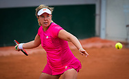Anna-Lena Friedsam of Germany in action against Aliaksandra Sasnovich of Belarus during the first round at the Roland Garros 2020, Grand Slam tennis tournament, on September 27, 2020 at Roland Garros stadium in Paris, France - Photo Rob Prange / Spain ProSportsImages / DPPI / ProSportsImages / DPPI