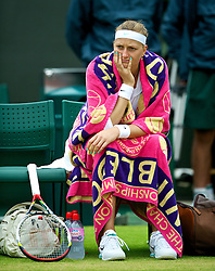 02.07.2012, Wimbledon, London, ENG, WTA Tour, The Championships Wimbledon, im Bild Petra Kvitova (CZE) during the Ladies' Singles 4th Round match during day seven of the WTA TourWimbledon Lawn Tennis Championships at the All England Lawn Tennis and Croquet Club, London, Great Britain on 2012/07/02. EXPA Pictures © 2012, PhotoCredit: EXPA/ Propagandaphoto/ David Rawcliff..***** ATTENTION - OUT OF ENG, GBR, UK *****