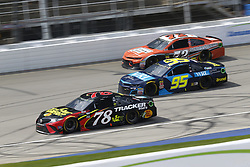 August 12, 2018 - Brooklyn, Michigan, United States of America - Martin Truex, Jr (78), Kasey Kahne (95) and Corey LaJoie (72) battle for position during the Consumers Energy 400 at Michigan International Speedway in Brooklyn, Michigan. (Credit Image: © Chris Owens Asp Inc/ASP via ZUMA Wire)