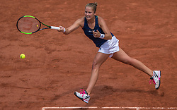 June 2, 2017 - Paris, France - Shelby Rogers of United States returns the ball to Kristina Mladenovic of France during the third round at Roland Garros Grand Slam Tournament - Day 6 on June 2, 2017 in Paris, France. (Credit Image: © Robert Szaniszlo/NurPhoto via ZUMA Press)