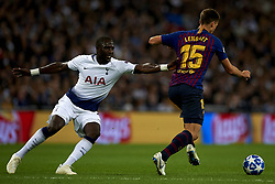 October 3, 2018 - London, England, United Kingdom - Victor Wanyama of Tottenham and Lenglet of Barcelona battle for the ball during the Group B match of the UEFA Champions League between Tottenham Hotspurs and FC Barcelona at Wembley Stadium on October 03, 2018 in London, England. (Credit Image: © Jose Breton/NurPhoto/ZUMA Press)