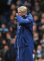 Arsenal's Manager Arsène Wenger<br /> <br /> Photographer Dave Howarth/CameraSport<br /> <br /> Football - Barclays Premiership - Manchester City v Arsenal - Sunday 18th January 2015 - Etihad stadium - Manchester<br /> <br /> © CameraSport - 43 Linden Ave. Countesthorpe. Leicester. England. LE8 5PG - Tel: +44 (0) 116 277 4147 - admin@camerasport.com - www.camerasport.com