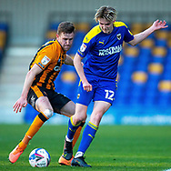 AFC Wimbledon midfielder Jack Rudoni (12) during the EFL Sky Bet League 1 match between AFC Wimbledon and Hull City at Plough Lane, London, United Kingdom on 27 February 2021.